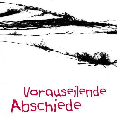 """Titel . Radierung """"Dolmar"""" . Harald Lindig """"Vorauseilende Abschiede"""" Ungereimtes . mit Grafiken von Frank Rothämel (Buch Gestaltung: Edition Sinnbild Designakut 2012)"""